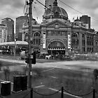 Flinders Street Station Melbourne VIC Australia  by Lee Duguid