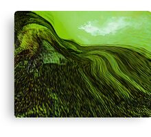 tribute in green.... abstract vision Canvas Print