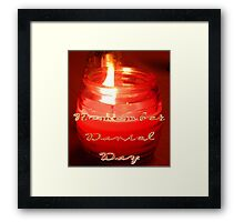 A Candle for Daniel Framed Print