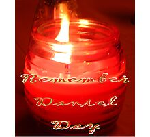 A Candle for Daniel Photographic Print