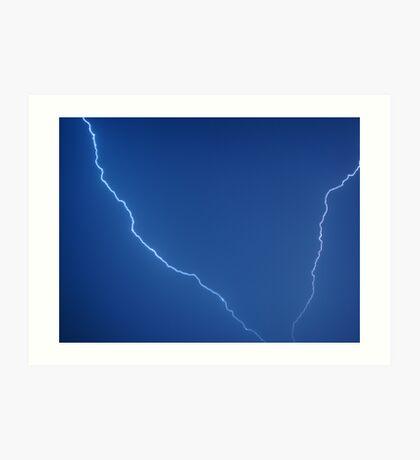 Summer Lightning Bolt Art Print