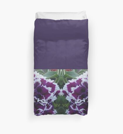 Prettily Purple & White Duvet Cover