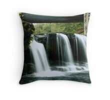 Waterfall at Rice Dam (Right Side) Throw Pillow