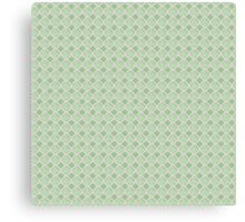 Luxury background with pearls. Silk satin. Pastel, tender green Canvas Print