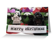Dave Stormtrooper and Darth Vader Merry Christmas Greeting Card