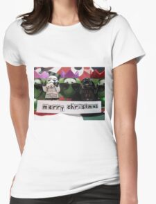 Dave Stormtrooper and Darth Vader Merry Christmas Womens Fitted T-Shirt