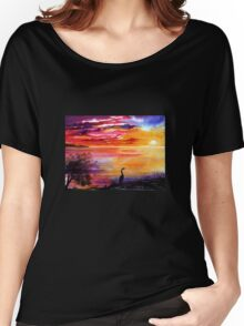 Colours of Sunset   Women's Relaxed Fit T-Shirt