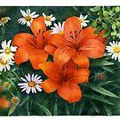 Red lilies by Sergei Kurbatov
