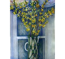 Forsythia - by Elle Fagan  Prize-winning Watercolor on Paper - 18x24inches by Elle Smith Fagan