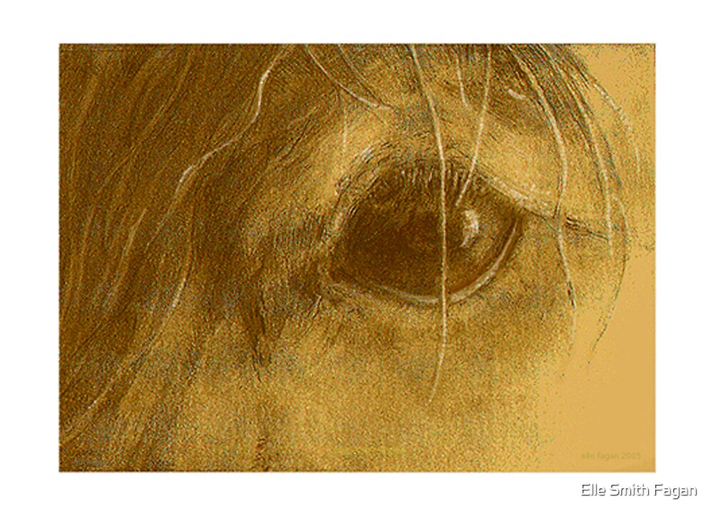 Horsepia - Prize-winning  Graphite and Watercolor on Paper 5x7inches  by Elle Smith Fagan
