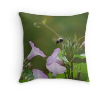 Breakfast on the Fence Throw Pillow