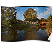 Late afternoon by the river stour Poster