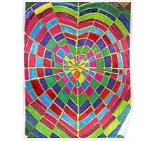 mosaic dart board Poster