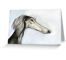 A Glancing Moment Greeting Card