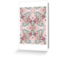 Lily, Leaf & Triangle Pattern - multi-color version Greeting Card