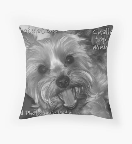 Top ten winner banner  Throw Pillow