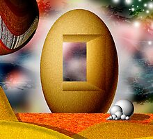 Sandy Egg Castle by GolemAura