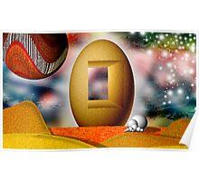 Sandy Egg Castle Poster