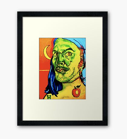 Sardonic Self Portrait  Framed Print