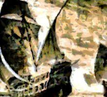 Columbus' ships - The Santa Maria, Nina and Pinta  Sticker
