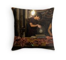 Chinese Butchers Throw Pillow