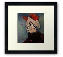 Swinging in Red Framed Print