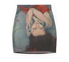 Swinging in Red Mini Skirt