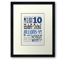 The 10th Doctor Framed Print