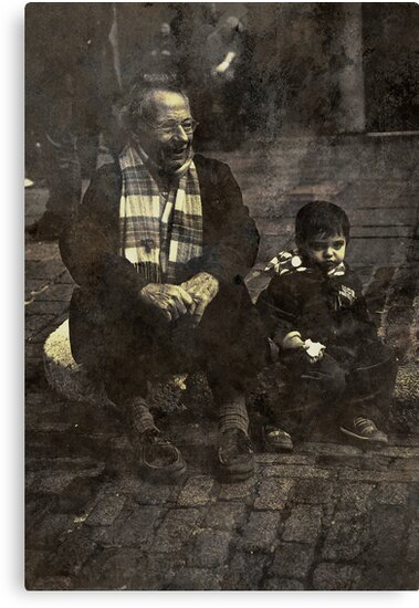 Boy and Grandad by Matt Sillence