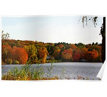 Fall at the Pond Poster