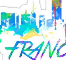 San Francisco Skyline in water colour Sticker