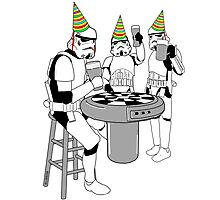 Stormtrooper Party! - Happy Birthday - Shirt, Sweater, Sticker, and More! Photographic Print