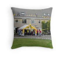 Supporting the Runner Teams Throw Pillow