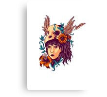 girl and nature Canvas Print