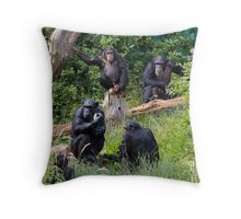 Bored Meeting Throw Pillow