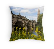 The English Bridge, Shrewsbury, UK Throw Pillow