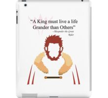 Iskandar Quotes Black Print iPad Case/Skin