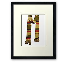 Doctor Who - Fourth Doctor Scarf Framed Print