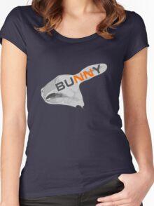 BUNNY ANATOMY RABBIT Women's Fitted Scoop T-Shirt
