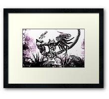 Alien VS Predator Framed Print