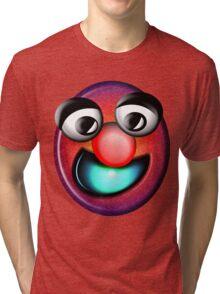 Light Blue Smile Tri-blend T-Shirt