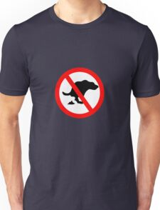 DOG NO POOP ROAD SIGN Unisex T-Shirt