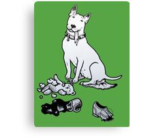 The Helpful Bull Terrier Canvas Print