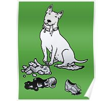 The Helpful Bull Terrier Poster