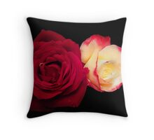 Red Rose and Friend Throw Pillow