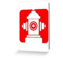 FIRE HIDRANT PICTOGRAM  Greeting Card