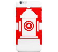 FIRE HIDRANT PICTOGRAM  iPhone Case/Skin