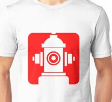 FIRE HIDRANT PICTOGRAM  Unisex T-Shirt