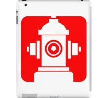 FIRE HIDRANT PICTOGRAM  iPad Case/Skin
