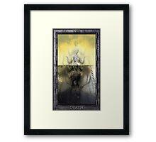 THE TAROT DEATH CARD Framed Print